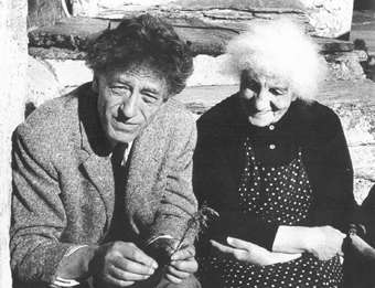 Alberto Giacometti with mother