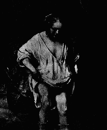 REMBRANDT, WOMAN BATHING. National Gallery. The rich and unctuous properties of oil paint have rarely, have perhaps never, been so thoroughly exploited as in this picture.