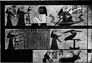 VIGNETTE ON PAPYRUS, LOUVRE. (PROM PERROT AND CHIPIEZ.)