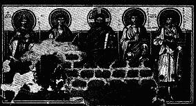 CHRIST AND SAINTS, FRESCO. S. GENEROSA, SEVENTH CENTURY
